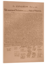 Acrylic glass  United States Declaration of Independence - John Parrot