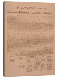 Canvas  United States Declaration of Independence - John Parrot