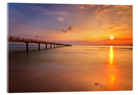 Acrylic glass  Sunrise Binz pier - Marcus Klepper