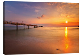 Canvas print  Sunrise Binz pier - Marcus Klepper