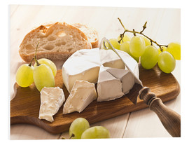 Foam board print  Cheese and grapes - Edith Albuschat