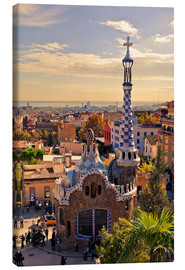 Canvas print  Park Guell in Barcelona - Stefan Becker