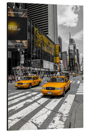 Aluminium print  Yellow cabs on Time Square 2 - Hannes Cmarits