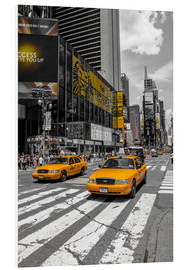 Foam board print  Yellow cabs on Time Square 2 - Hannes Cmarits