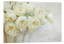 Acrylic print  White roses - Lizzy Pe