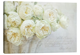 Canvas print  White roses - Lizzy Pe