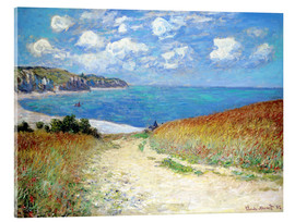 Acrylic print  Path through the Wheat at Pourville - Claude Monet