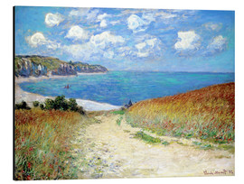 Alu-Dibond  Path through the Wheat at Pourville - Claude Monet