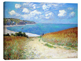 Canvas  Path through the Wheat at Pourville - Claude Monet