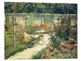 Foam board print  The Bench in the Garden of Versailles - Edouard Manet