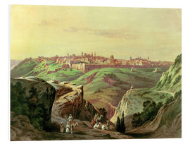 Foam board print  View of Jerusalem - Friedrich Perlberg