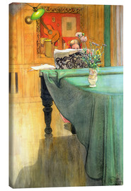 Canvas print  Brita at the Piano - Carl Larsson