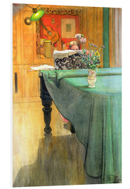 Foam board print  Brita at the Piano - Carl Larsson