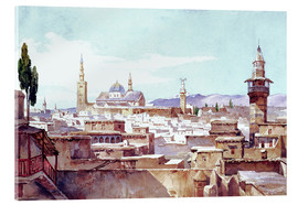 Acrylic print  A view of Damascus - Charles Pierron