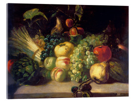 Acrylic print  Still life with fruits and vegetables - Theodore Gericault