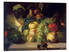 Aluminium print  Still life with fruits and vegetables - Theodore Gericault