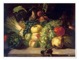 Premium poster Still life with fruits and vegetables