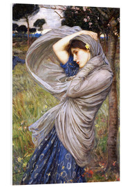 Foam board print  Boreas - John William Waterhouse