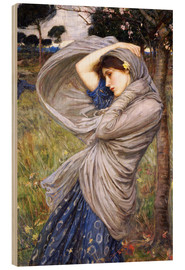 Wood print  Boreas - John William Waterhouse