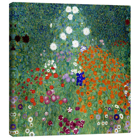 Canvas  Flower Garden - Gustav Klimt