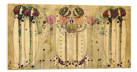 Foam board print  The wassail - Charles Rennie Mackintosh