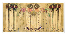 Premium poster  The wassail - Charles Rennie Mackintosh