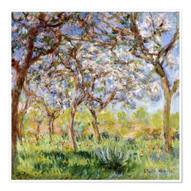 Premium poster  Spring at Giverny - Claude Monet