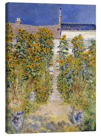 Canvas print  The Artist's Garden at Vetheuil - Claude Monet