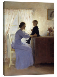 Canvas print  Mother and Child - Peter Vilhelm Ilsted
