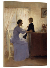 Wood print  Mother and Child - Peter Vilhelm Ilsted