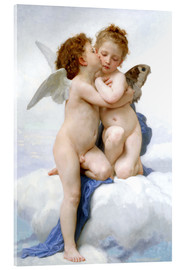 Acrylic print  The first kiss - William Adolphe Bouguereau