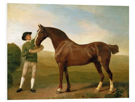 Foam board print  Groom feeding a bay hunter in a landscape - George Stubbs