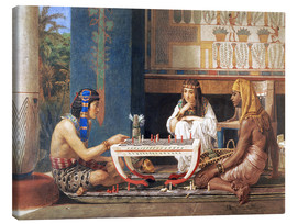 Canvas  Egyptian Chess Players - Lawrence Alma-Tadema