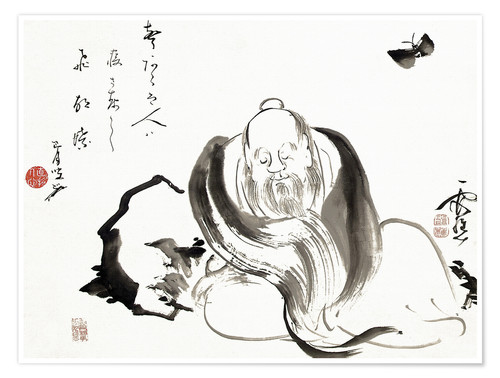Premium poster Zhuang Zi dreaming of a butterfly