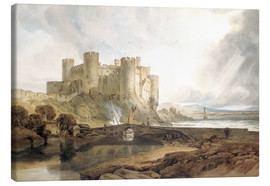 Canvas  Conway Castle, c.1802 - Joseph Mallord William Turner
