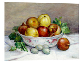 Acrylic print  Still Life with a Pomegranate - Pierre-Auguste Renoir
