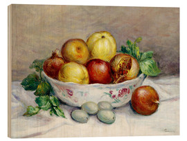 Wood print  Still Life with a Pomegranate - Pierre-Auguste Renoir