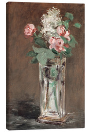 Canvas print  Flowers in a Crystal Vase - Edouard Manet