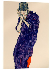 Egon Schiele - Youth with violet frock