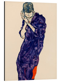 Aluminium print  Youth with violet frock - Egon Schiele