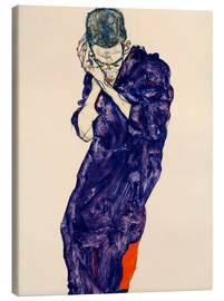 Canvas print  Youth with violet frock - Egon Schiele