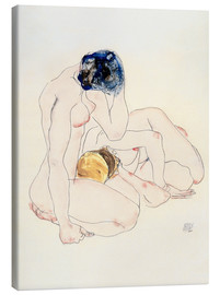 Canvas print  Two friends - Egon Schiele