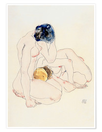 Premium poster  Two friends - Egon Schiele