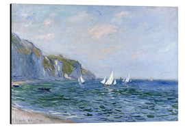 Aluminium print  Rocks and sailing boats in Pourville - Claude Monet