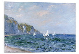 Foam board print  Rocks and sailing boats in Pourville - Claude Monet