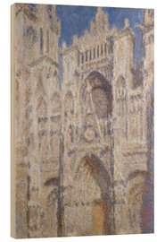 Wood print  Cathedral afternoon - Claude Monet