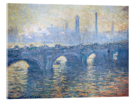 Acrylic print  Waterloo Bridge, London - Claude Monet