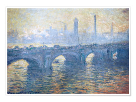 Premium poster  Waterloo Bridge, London - Claude Monet