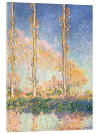 Acrylic print  The three trees - Claude Monet
