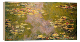Wood print  The lily pond - Claude Monet